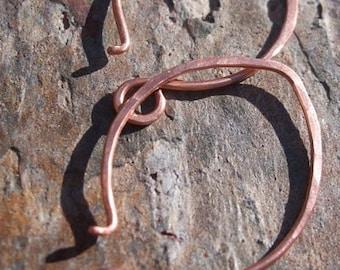Handmade Copper, LRG. Half Moon Earwires, 1,3, or 5 pair, PurpleLily Designs by Joanne Ortiz