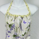 Ladies Apron With Honey Bees and Bunches of Lavender Flowers