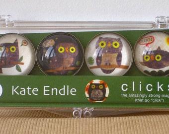 Glass Hoo Hoo Owl magnet set, owl magnet, bird magnet, owl refridgerator magnet, fridge magnets, woodland magnet, owl stocking stuffer