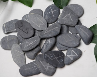 25 Tintagel Slate Elder Futhark Runes For divination - Pagan, Wicca, Witchcraft, Norse, From Cornwall