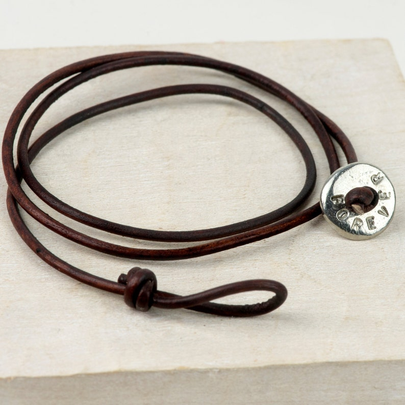 a1c7015b4a91c Leather Bracelet - Personalised Bracelet - mens leather bracelet - gift for  men - personalized mens necklace - Leather wrist Wrap