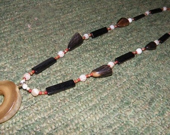 Handmade Beaded w/ Bone, Buffalo and Deer Antler Native American Inspired Folklore/Healing Necklace