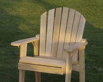 1 Adirondack Garden Chair Kit   Unfinished   99% CLEAR WOOD