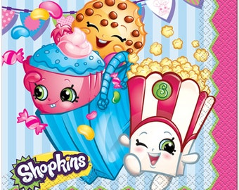 Shopkins Party Luncheon Napkins.-NEW 16ct.
