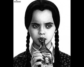 Print 8x10 I Hate Everything Wednesday Addams The Etsy