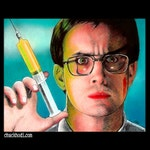 "Print 8x10"" - Herbert West - Re-Animator Reanimator HP Lovecraft Jeffrey Combs Dark Art Comedy Sci Fi Horror Glasses Pop Art Medical Lowbrow"
