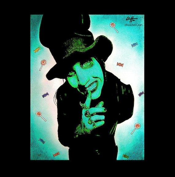 Imprimir 11 x 14 Marilyn Manson sombrero Pop Art | Etsy