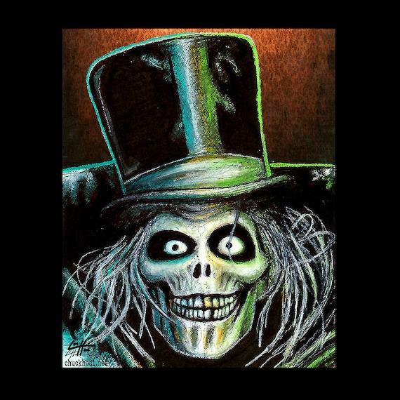 Print 8x10 The Hatbox Ghost Haunted Mansion Disney Etsy