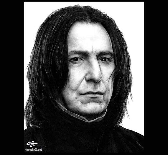 Print 8x10 Severus Snape Harry Potter Alan Rickman Etsy