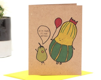 Funny Oh My Gourd It's your Birthday Greeting Card