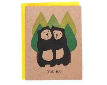Cute bear Hug Greeting Card