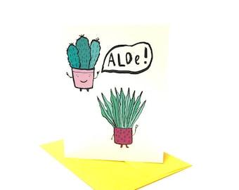Aloe Hello Greeting Card
