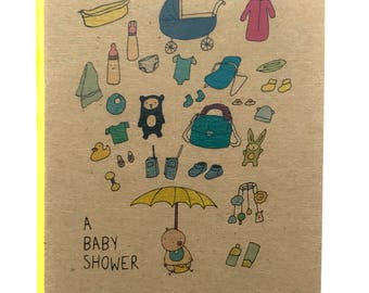 NEW Baby Shower Greeting Card
