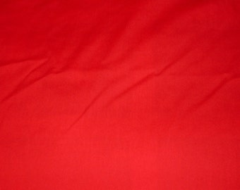 Bright Red Handmade Solid Color Fitted Crib or Toddler Sheet