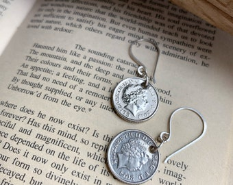 God Save the Queen Coin Earrings