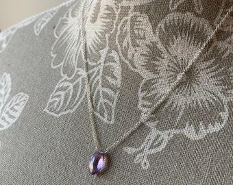 Amethyst Leaf Necklace