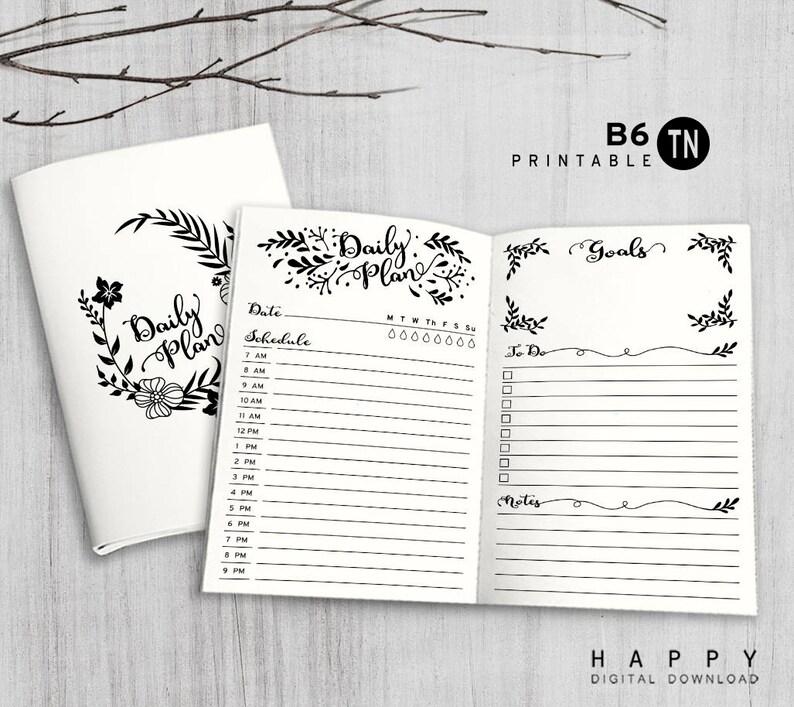 Printable B6 Insert  B6 Traveler's Notebook Insert  B6 image 0