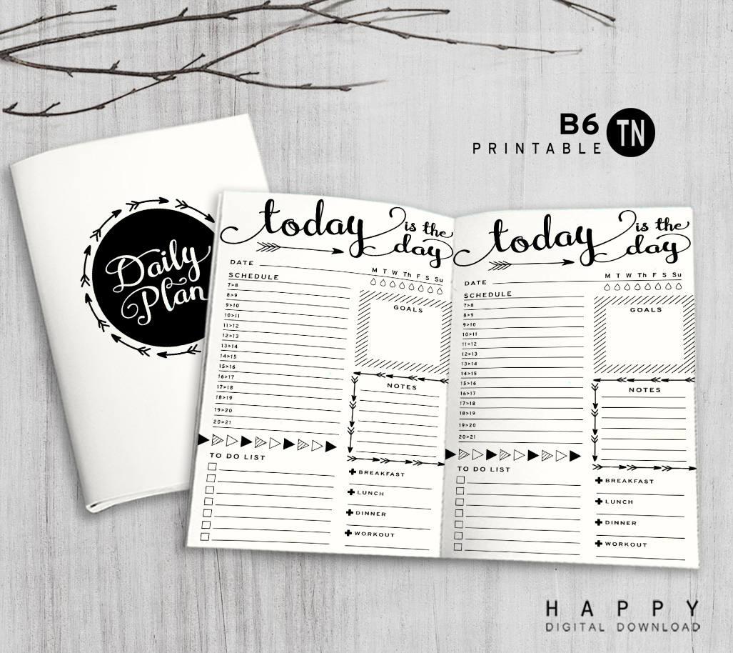printable b6 insert b6 traveler u0026 39 s notebook insert b6