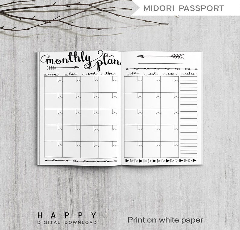 graphic about Midori Insert Printable identified as Printable Regular Planner Inserts, Midori Pport Every month Planner, Printable Midori Vacationers Laptop computer Regular monthly planner inserts, PDF history