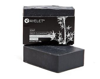 Detox Bamboo Charcoal Soap| Natural Soap Bar|Handmade Soap Bar| Organic Soap Bar| Bath Bar| Vegan Soap Bar| Oily Skincare Soap| Acne Soap