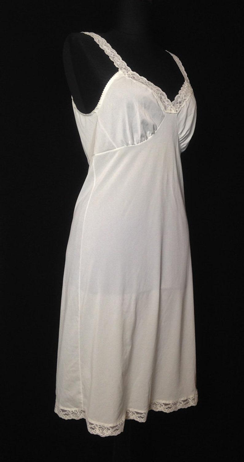 f0ce85fdffa Vintage Slip Full Slip 1960s White Nylon Shadowline
