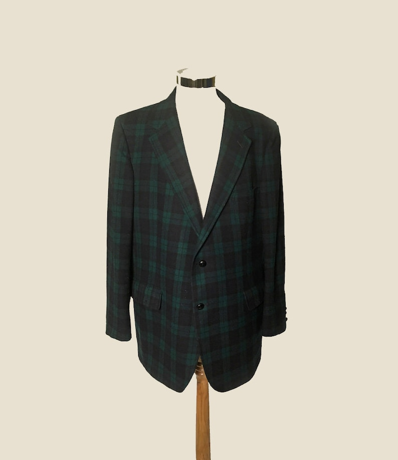 d8c6565cb26a82 Herren Vintage Pendleton Jacke Blazer Sakko 1970 grün und | Etsy