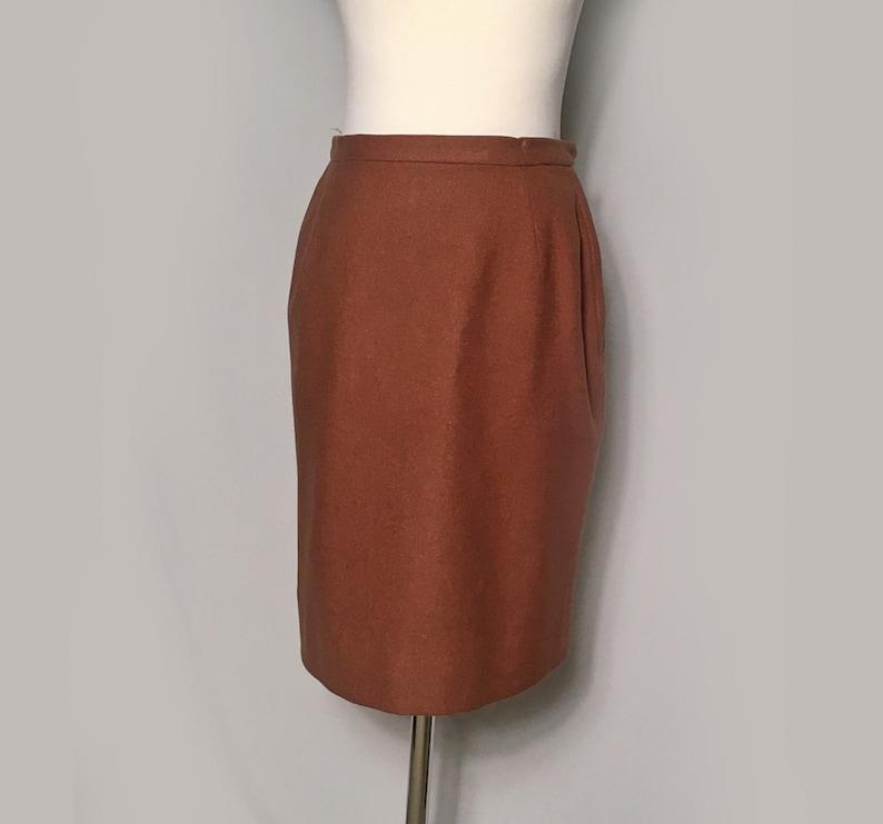 2cf61ec5efea Vintage Wool Skirt Brown Straight Skirt Pencil Skirt | Etsy