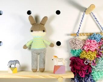 amigurumi animal doll, boy toys, crochet animal, crochet toy rabbit, plush doll, bunny, stuffed plush toy, kawaii plushie rabbit