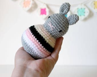 roly poly rabbit baby toy rattle .. ballet