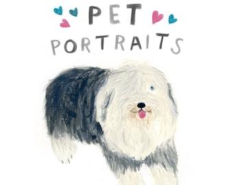Pet Portrait - custom illustration of your favourite pet - pet portrait commission