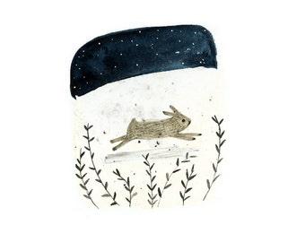 Art print - Run Rabbit - digital print
