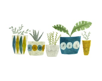 Plant collection - archival art print - available in three sizes