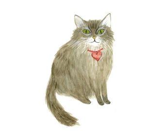 Custom Pet Portrait - original illustration of your pet - pet portrait commission