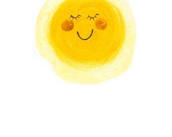 One Happy Sunshine archival art print