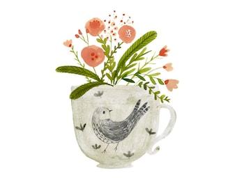 Flower arrangement art print - available in three sizes