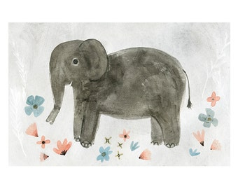 Elephant - archival art print