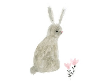 Nursery art print - Rabbit