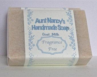 Unscented Goat Milk Soap - Mild Natural Soap - Plain Gentle Soap - Suitable for Face Soap - Use Everyday for Face, Body, Bath, Shower