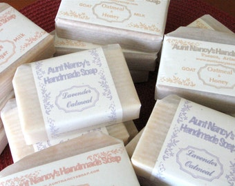 Handmade Soap SIX Bars of Soap Your Choice Mild Olive Oil Soaps Scented With Essential Oils or Fragrance Oils, Some Unscented - No Palm Oil