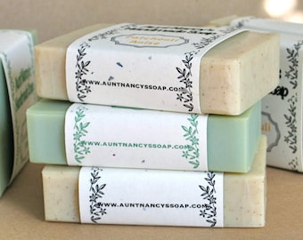 Soap Handmade Soap  You Pick - THREE (3) Bars Handmade Olive Oil Soap Your Choice - Goats Milk Soap, Scented and Unscented Soap, Home Made