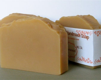 Cedarwood Goat Milk Soap - Great Scent for Men - Scented with Essential Oils - Great Lather, Great Scent
