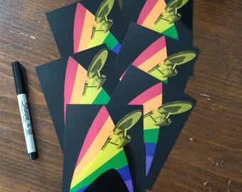 Rainbow Delta Enterprise Trekkie Inspired Postcards - Pack of 25