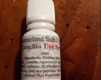 15ml Camellia Eye Serum Squeeze Bottle, Depuffs, Tightens, Works on Undereye Circles and Wrinkles