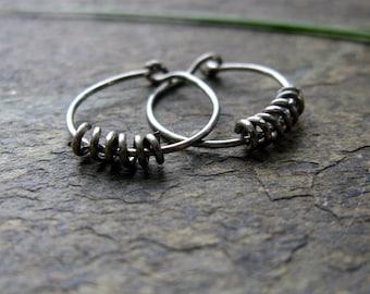 22g second hole hoops unisex hoop earrings tiny niobium hoops simple niobium hoops sleeper hoops huggie hoops