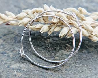 mini hoop earrings, solid 14k gold, yellow, white or rose hoops, 28g hoops-- handmade by thebeadedlily