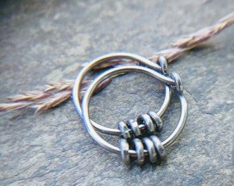 18g niobium earrings sleeper hoops mens hoop earrings niobium hoops hypoallergenic hoops huggie hoops
