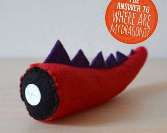 Catnip Toy / Severed Tail Cat Toy / Red Dragon Tail / Pet Gift / Cat Toy / Pet Gift