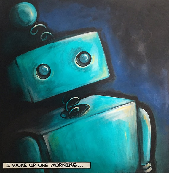 Open Edition Robot Print - 8x8
