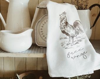 Free Range - Tea Towel - Teresa Sheeley Illustrations