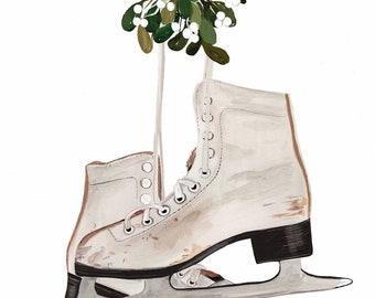 Ice Skates - Art Print